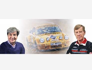 Walter Röhrl und Christian Geistdörfer bei der Rallye Luxembourg dank Unterstützung des Porsche Zenter Lëtzebuerg.