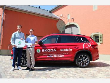 ŠKODA Luxembourg signe contrat de sponsoring avec Andy Schleck