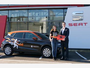 SEAT Luxembourg signe contrat de sponsoring avec Eléonora Molinaro